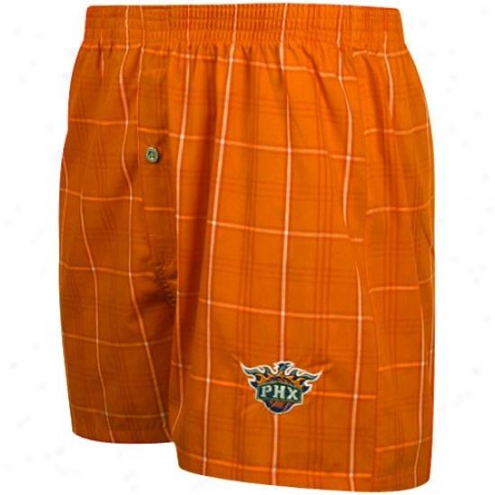 Phoenix Suns Orange Plaid Genuine Boxer Shorts
