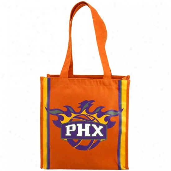 Phoenix Suns Orange Team Stripe Canvas Tote
