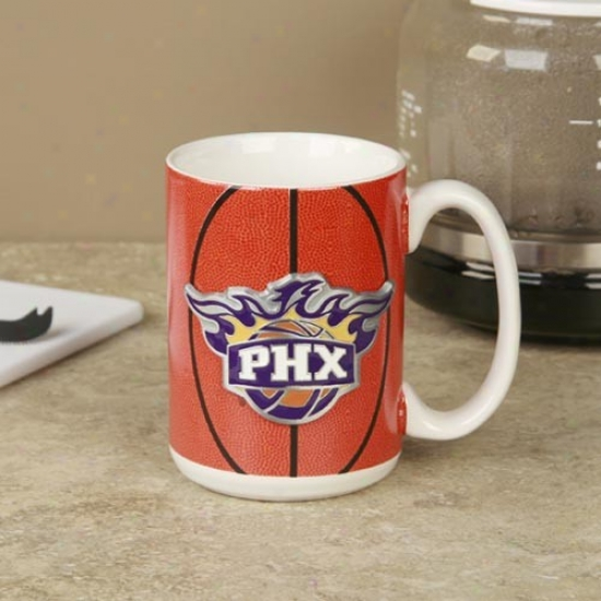 Phoenix Suns Pewter Logo Basketball Coffee Mug