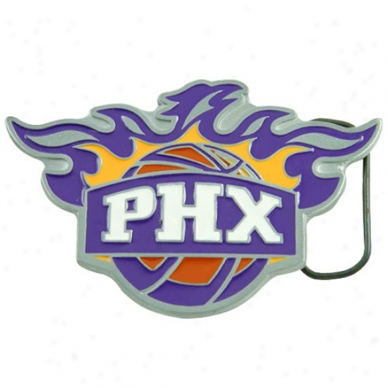 Phoenix Suns Pewter Team Logo Belt Buckle
