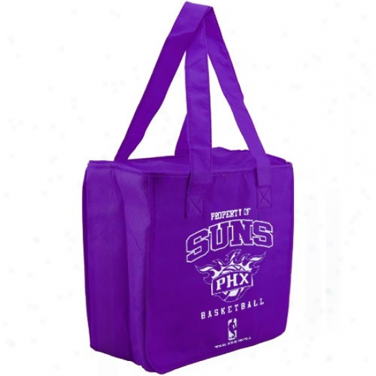 Phoenix Suns Purple Reusable Insulated Carry Bag