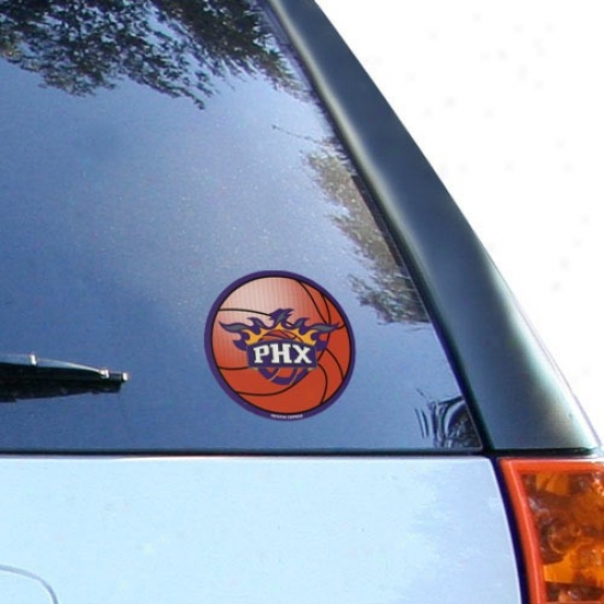Phoenix Suns Round Vinyl Basketball Decal