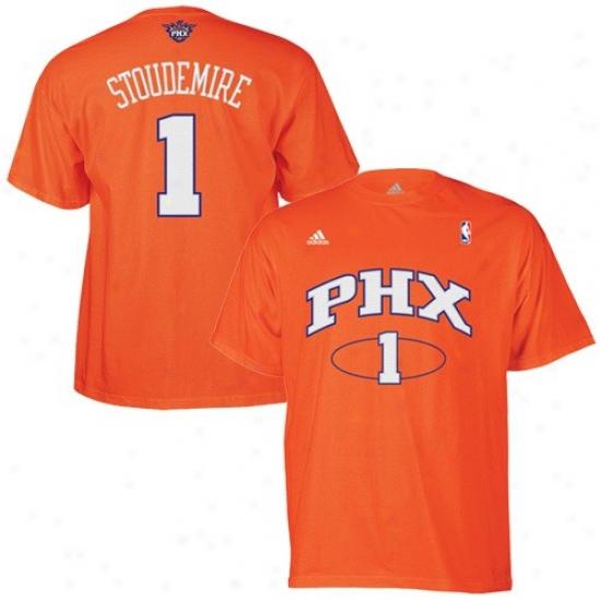 Phoenix Suns Shirt : Adidas Phoenix Suns #1 Amare Stoudemire Orange Net Players Shirt
