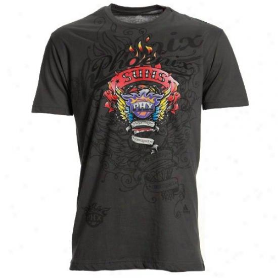 Phoenix Suns Shirts : Adidas Phoenix Suns Charcoal Flame Thrower Premium Shirts