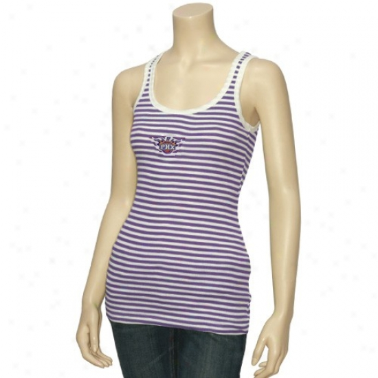 Phoenix Suns Shirts : Phoenix Suns Ladies White-purple Assembly Tank Top