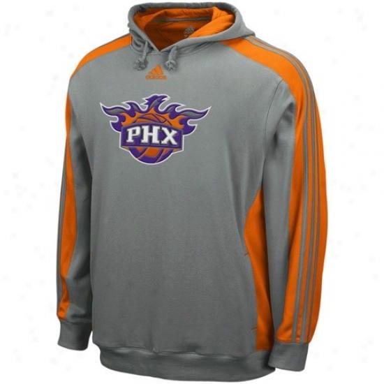 Phoenix Suns Stuff: Adidas Phoenix Suns Gray Dice Hoody Sweatshirt