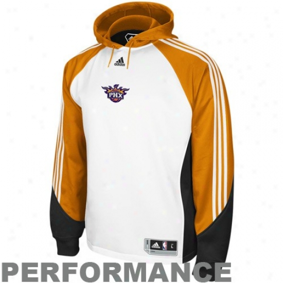 Phoenix Suns Sweatshirt : Adidas Phoenix Suns White Pre-game Performance Sweatshift