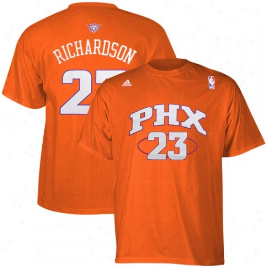 Phoenix Suns T Shirt : Adidas Phoenix Suns #23 Jason Richardson Orange Player T Shirt