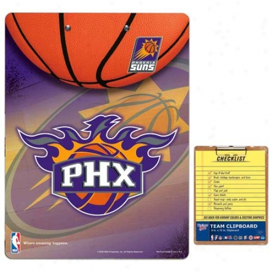 Phoenixx Suns Team Logo Clipboard