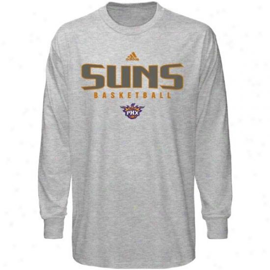 Phoenix Suns Tees : Adidas Phoenix Suns Aqh Absolute Long Sleeve Tees