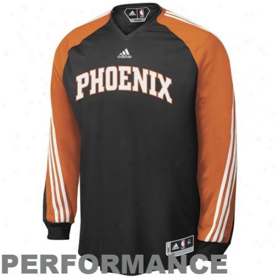Phoenix Suns Tshirt : Adidax Phoenix Suns Black On Court Shooting Performance Long Sleeve Top