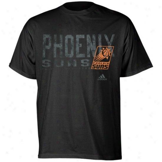 Phoenix Suns Tshirts : Adidas Phoenix Suns Black Fringed Tshirte