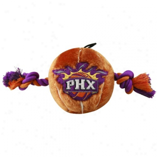 Phoenix Suns Two Tone Plush Basketball Dog Toy