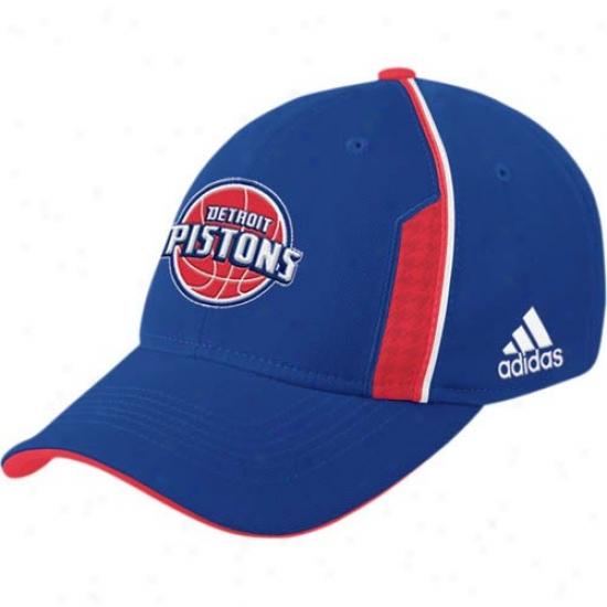 Pistons Hat : Adidas Pistons Royal Blue Official Team Flex Fit Hat