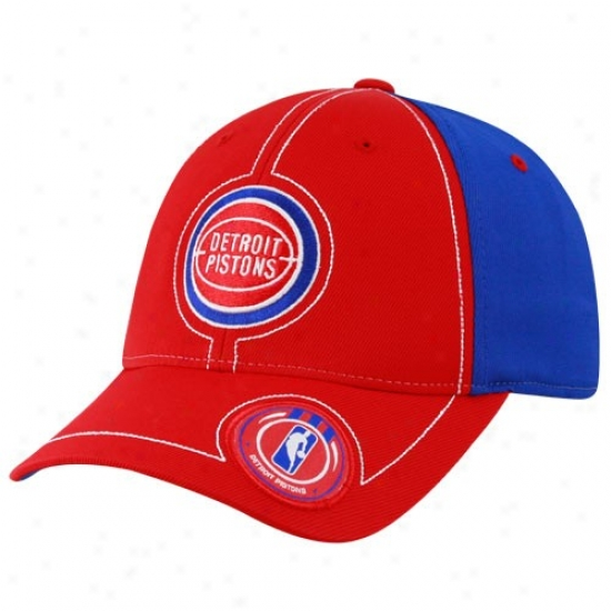 Pistons Hats : Adidas Pistons Red Retro Logo Flex Fit Hats