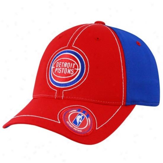 Pistons Hats : Adidas Pistons Red Retro Logo Flex Fit Hats