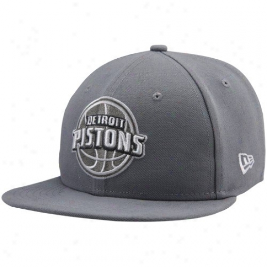 Pistons Hats : Recent Era Pistons Gray League 59fifty Fitted Hats