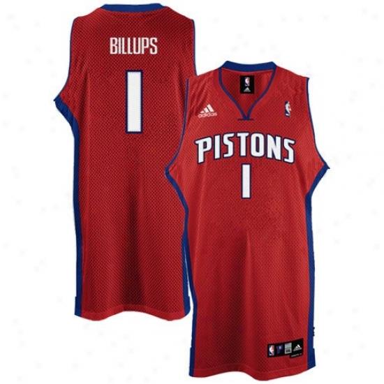 Pistons Jersey : Adidas Pistons #1 Chaunc yBillups Red 2nd Road Swingman Basketball Jersey