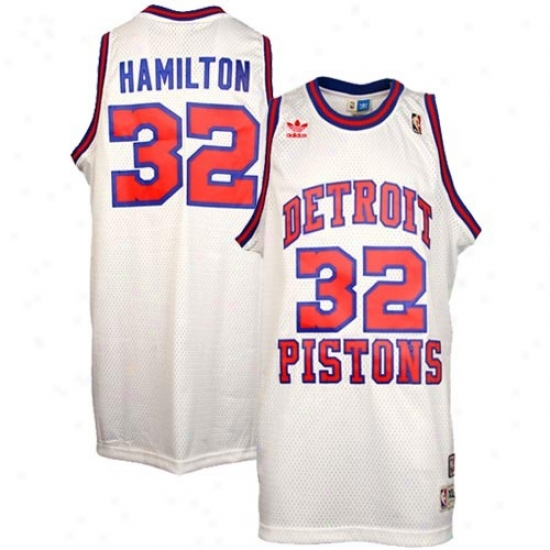 Pistons Jersey : Adidas Pistons #32 Richard Hamilton Pure Hardwood First-rate work  Swingman Basketball Jersey