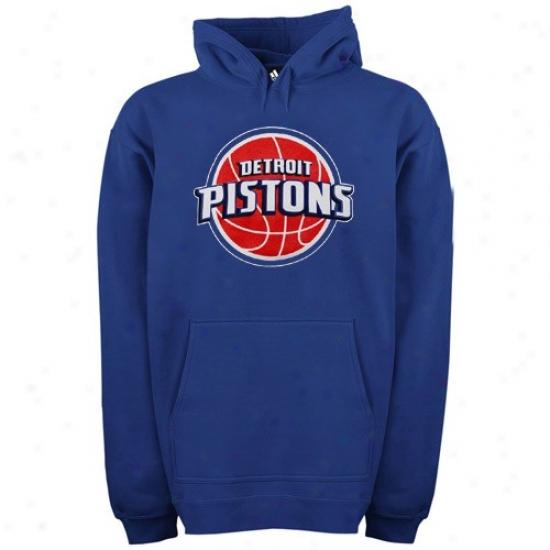 Pistons Sweatshirt : Adidas Pistons Royal Blue Primary Logo Sweatshirt