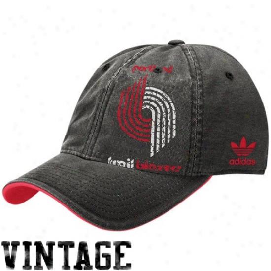 Portland Blazer Caps : Adidas Portland Blazer Black Big Logo Caps