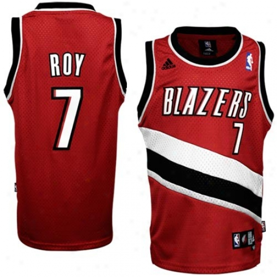 Portland Blaser Jersey : Adidas Portland Blazer #7 Brandon Roy Youth Red Swingman Basetball Jersey