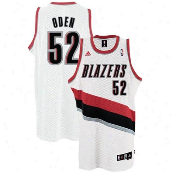 Portland Blazer Jersey : Adidas Portland Blazer #52 Greg Oden White Home Swingman Basketball Jersey