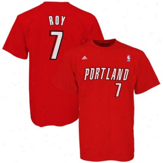 Portland Blazer Shirt : Adidas Portland Blazer #7 Brandon Roy Red Net Shirt