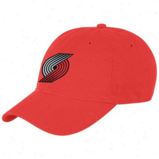 Portland Blaezrs Caps : Adidas Portland Blazers Red Basic Logo Slouch Caps