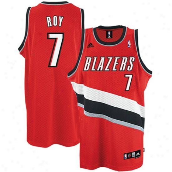 Portland Blazers Jerseys : Adidas Portland Blazers #7 Brandon Roy Red 2nd Road Swingman Basetball Jerseys