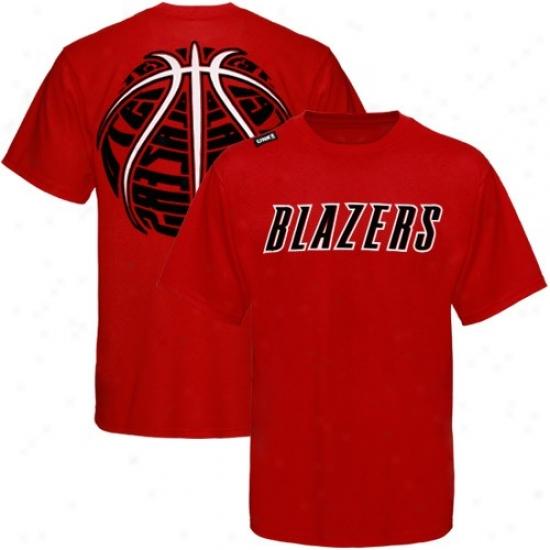 Portland Trail Blazer Attire: Portland Trail Blazer Red The Rock T-shirt