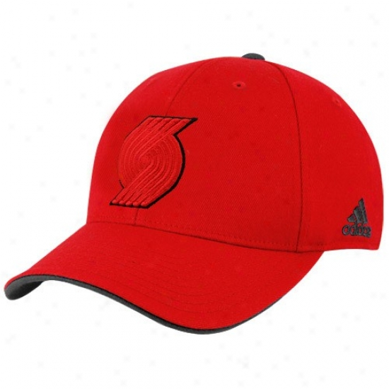 Portlaand Trail Blazer Hat : Adidas Portland Trail Blazer Red Tonal Flex Fit Hat