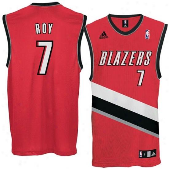 Portland Trail Blazer Jerseys : Adidas Portland Trail Blazer #7 Brandon Roy Red Replica Basketball Jerseys