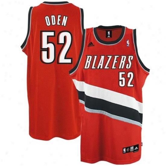 Portland Trail Blazer Jerseys : Adidas Portland Trail Blazer #52 Greg Oden Red Swingman Basketball Jerseys