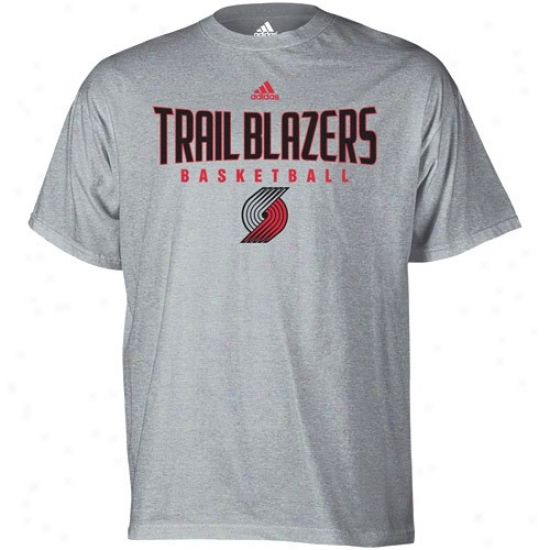 Portland Trail Blazer T-shirt : Adidas Portland Trail Blazer Ash Abxolute T-shirt