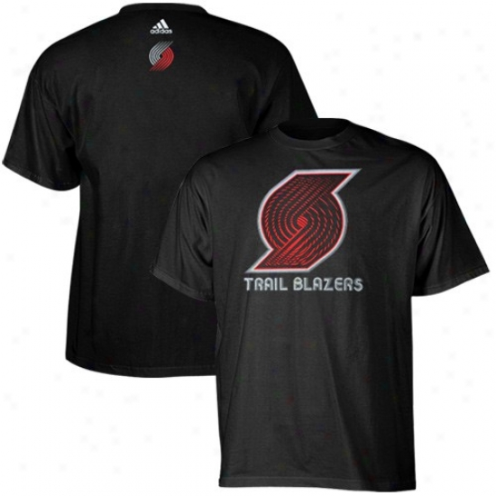 Portland Drag Blazer Tshirrs : Adidas Portland Trail Blazer Black Sonic Boom Tshirts