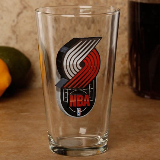 Portland Trail Blazers 17 Oz. Enhanced Hi-def Mixing Glass