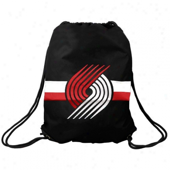 Portland Trail Blazers Blaxk Team Logo Drawstring Backpack