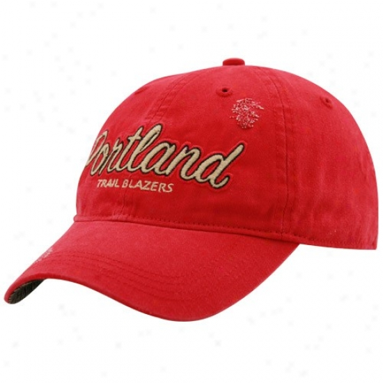 Portland Trail Blazers Hat : Adidaas Portland Trail Blazers Red Alternate Slouch Hat