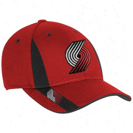 Portland Trail Blazers Hat : Adidas Portland Trail Blazers Youth Red Swingman Flex Fit Hat