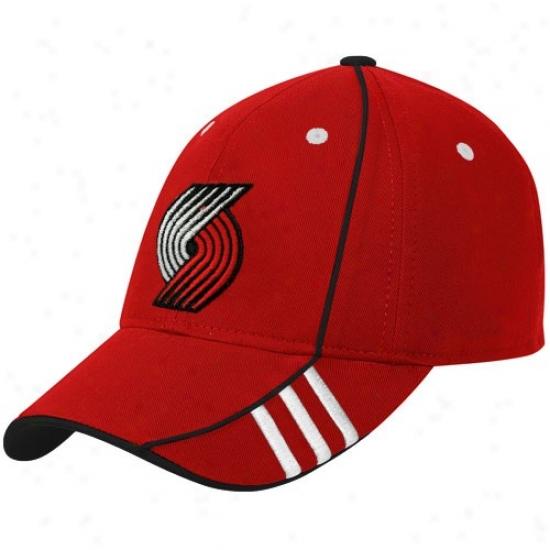 Portland Trail Blazers Hat : Adidas Portland Trail Blazers Red Official Team Adjustable Hat