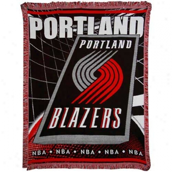 Porfland Trail Blazers Jacquard Woven Blanket Throw