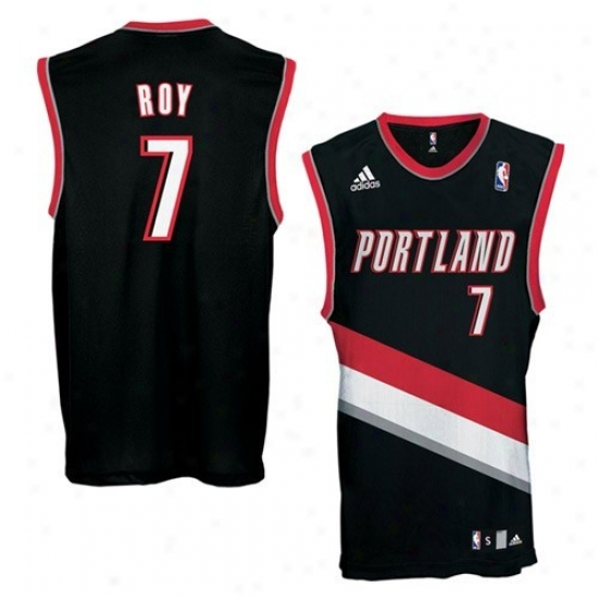 Portland Trail Blazers Jerseyw : Adidas Portland Trail Blazers #7 Brandon Roy Black Replica Basketball Jerseys
