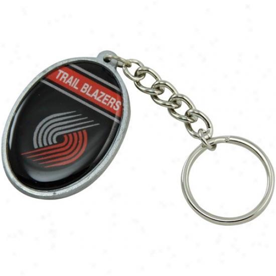 Portland Trail Blazer sOval Keychain