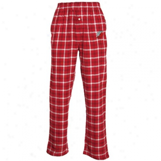 Portland Trail Bazers Red Plaid Tailgate Pajama Pants