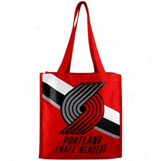 Portland Trail Blazers Red Team Stroke  Canvas Tote