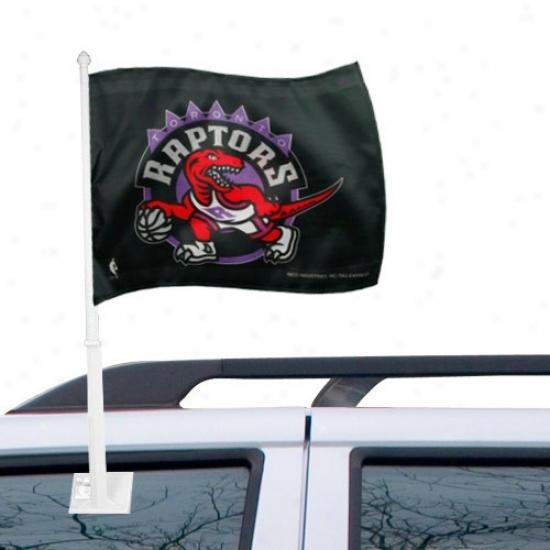 Raptors Banners : Raptors Black Car Banners