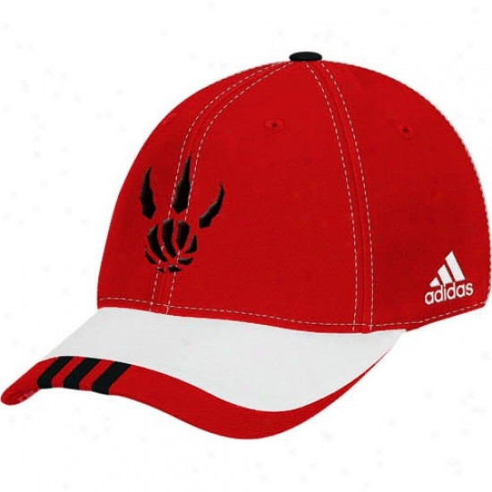 Raptors Caps : Adidas Raptors Red 2008 Nba Draft Sunshine 1-fit Flex Fit Caps