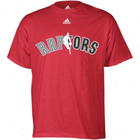 Raptors Shirts : Adidas Raptors Red 2010 Draft Dribbler Shirt