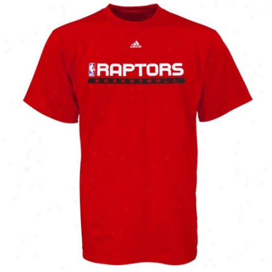 Raptors Shirts : Adidas Raptors Red True Court Shirts